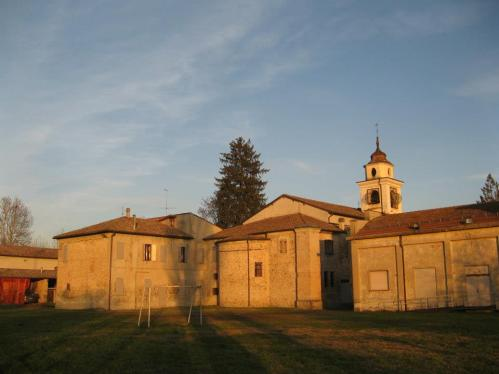 Chiesa di Viarolo al tramonto