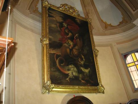 Chiesa di Viarolo - il quadro di san Giorgio