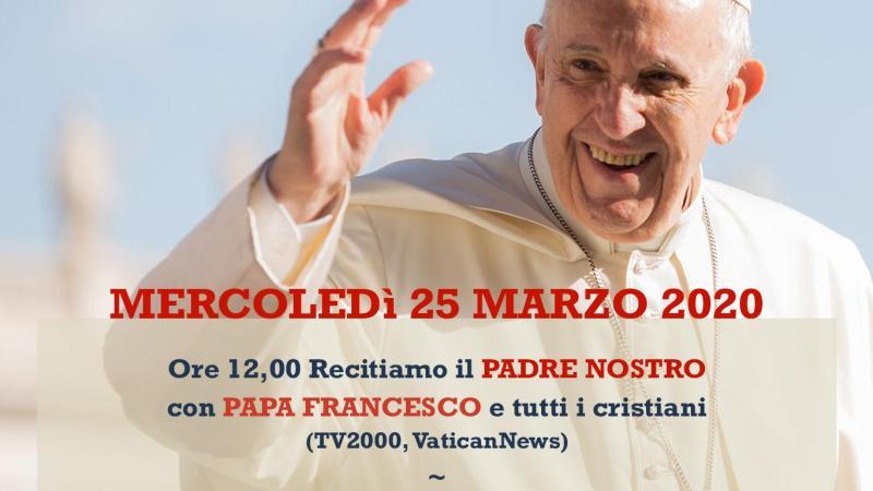 Padre Nostro con Papa Francesco