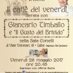 Il caffè del venerdì con Giancarlo Timballo