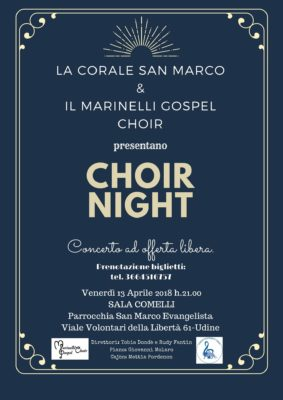 Locandina CONCERTO CHOIR NIGHT
