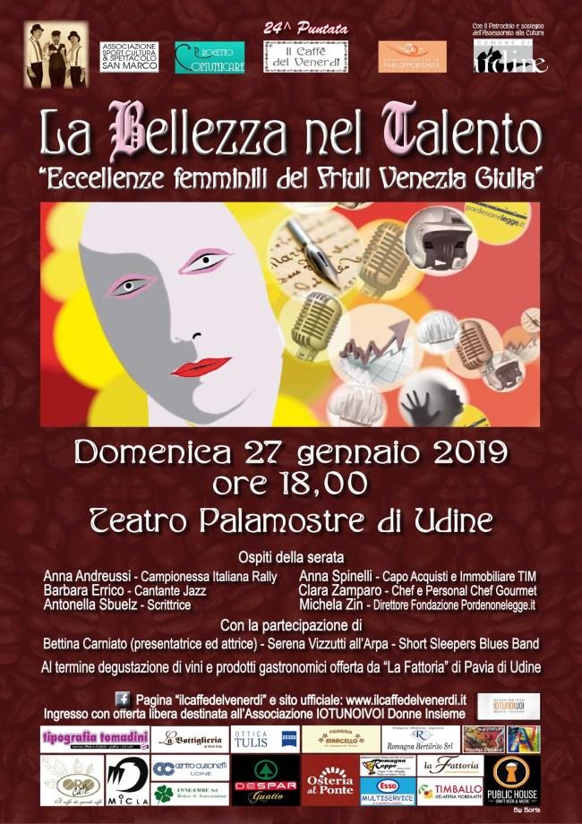 Il caffè del venerdì: Locandina La bellezza del talento 27/01/2018