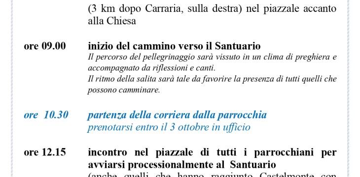 Programma Castelmonte 2019
