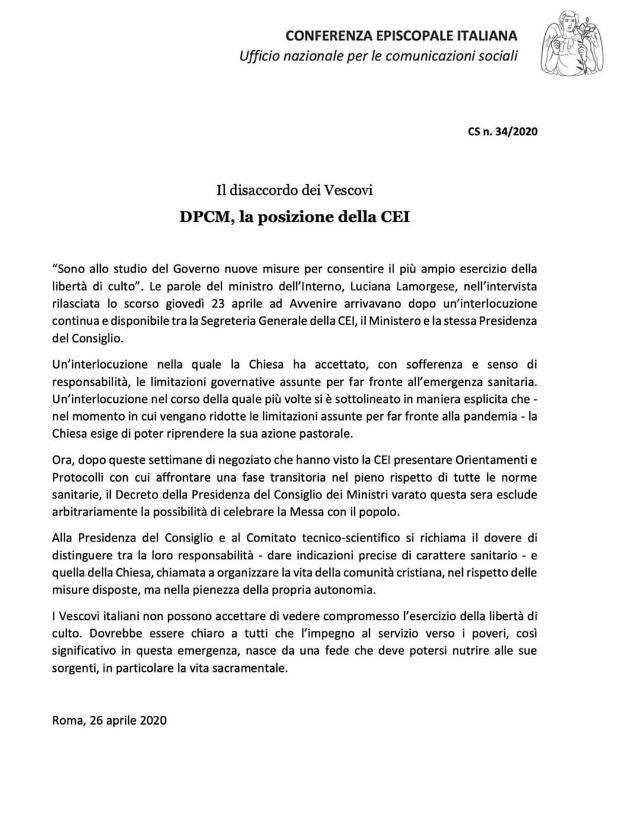 2020-04-26-lettera-vescovi disaccordo