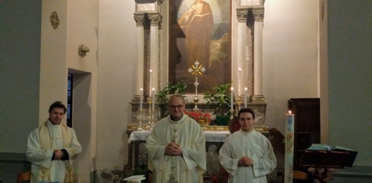 santa messa del 25/04/2020 all'altare di San Marco