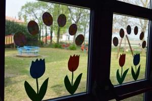 Vista giardino interno da aula Soli