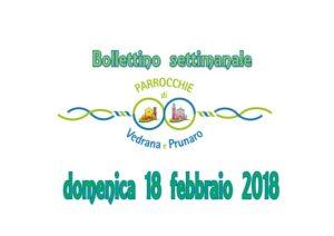 Read more about the article Bollettino Vedrana – Prunaro 18 febbraio 2018