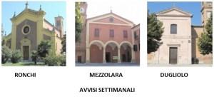 Appuntamenti comunità parrocchiali Mezzolara, Dugliolo, Ronchi