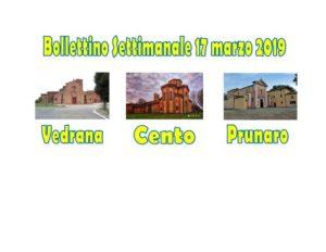 Bollettino Vedrana Cento Prunaro 17 marzo 2019