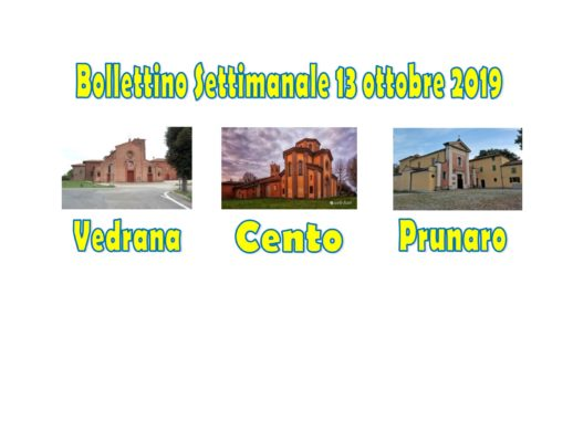 Bollettino Vedrana Cento Prunaro 13 ottobre 2019