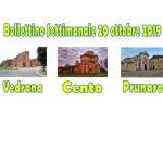 Bollettino Vedrana Cento Prunaro 20 ottobre 2019