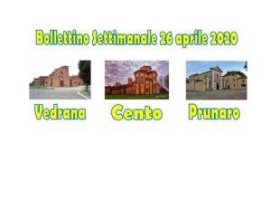 Read more about the article Bollettino Vedrana Cento Prunaro 26 aprile 2020