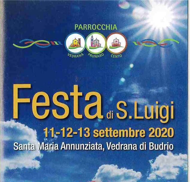 FESTA DI SAN LUIGI A VEDRANA 11 – 12 – 13 SETTEMBRE 2020