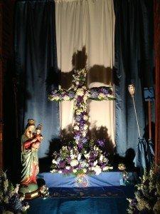 """Cruz de Mayo"". Iglesia parroquial de San Nicolás, Murcia (30 de abril de 2015)."