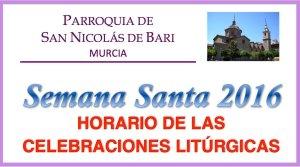 Semana Santa.Horario Celebraciones.2016.Imagen.Web