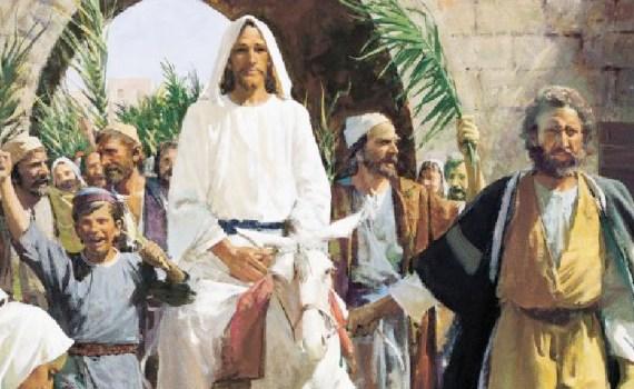 Entrada de Jesús en Jerusalem en un borrico