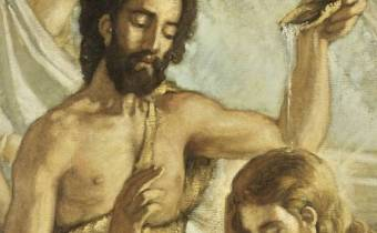 Juan bautizando a Jesús