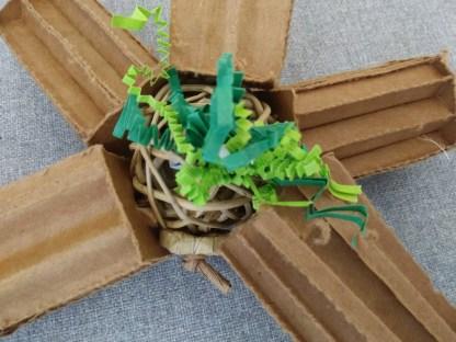 bird toys with cardboard north star