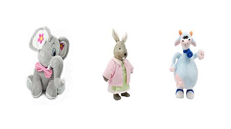 Parrot toys bunny,goat,Elephant