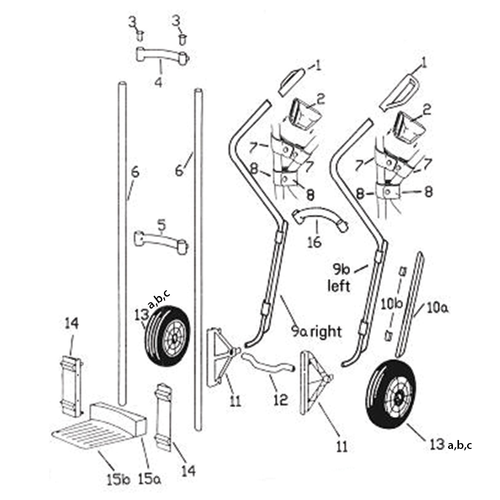 hight resolution of replacement spare parts for expresso sack trucks