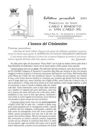 Bollettino Parrocchiale 2013/4