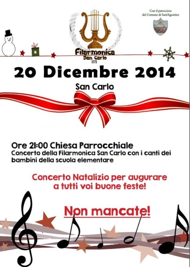 Locandina Concerto Di Natale 2014