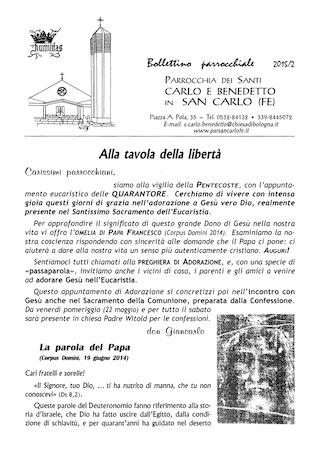 Bollettino Parrocchiale 2015/2
