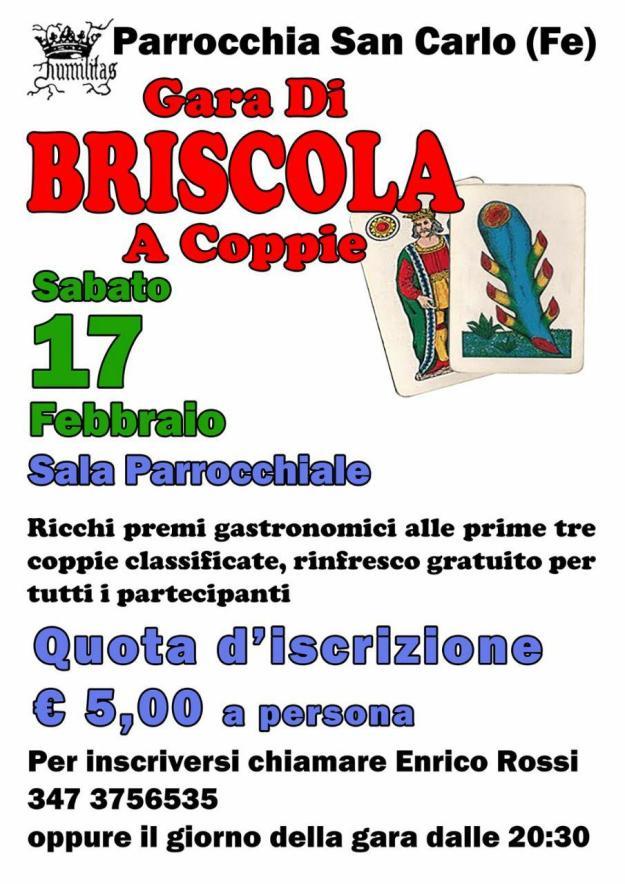 Briscola a Coppie 17/2/2018