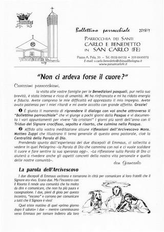 Bollettino Parrocchiale 2018/1