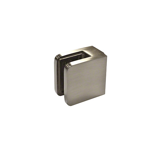 Brushed Nickel Small Square Flat Back Glass Clamp 45 x 45 mm
