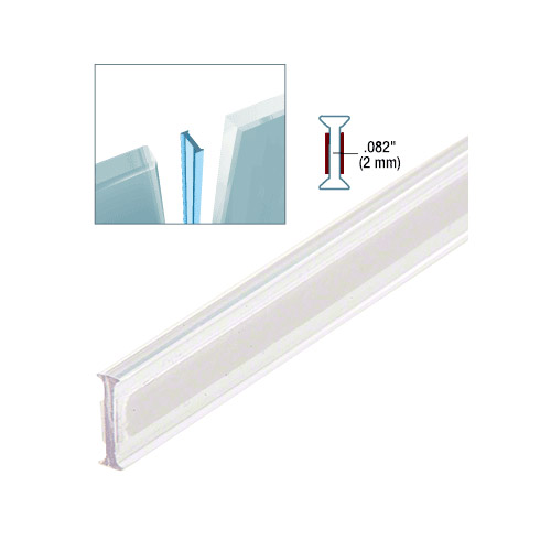 Clear Copolymer Strip for 180 Degree Glass-to-Glass Joints - 12.8mm Laminated Glass
