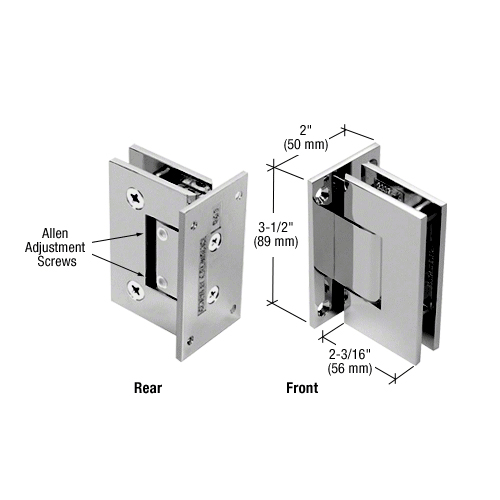 Geneva glass or wall hinge (full back plate) adjustable