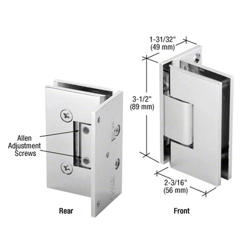 Geneva glass - wall hinge (offset back plate) adjustable