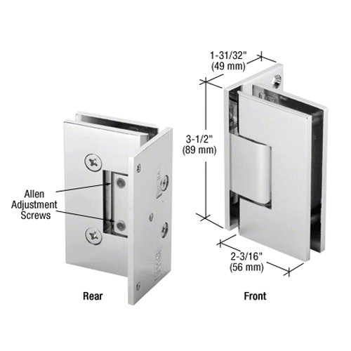Geneva glass - wall hinge (offset back plate) adjustable