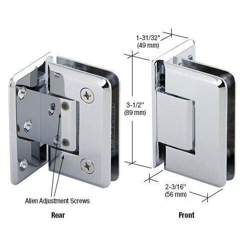 Pinnacle glass-wall hinge (offset back plate) adjustable