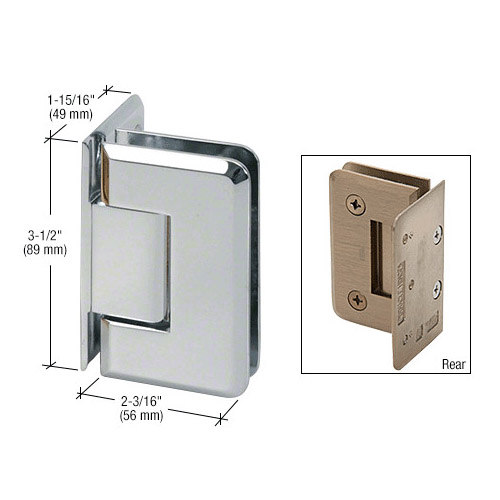 Pinnacle glass-wall hinge (offset back plate)