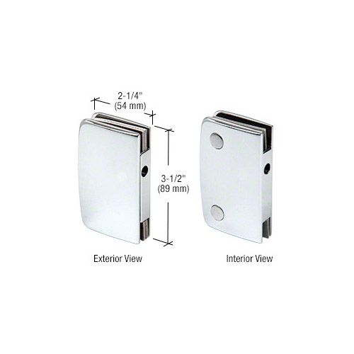 Polished Chrome Glass Swinging Door Lock Receiver for 700CCH