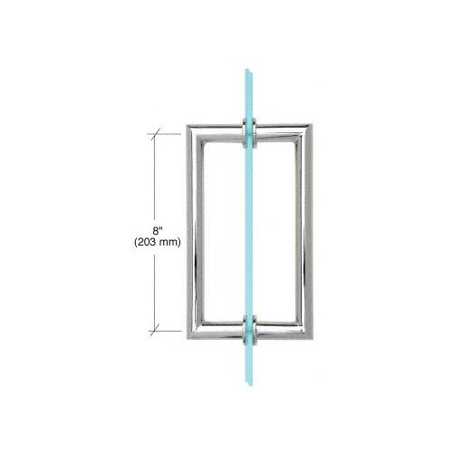 Round Tubing Mitered Corner Back-to-Back Pull Handle