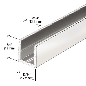u channel for 12mm glass panel screen