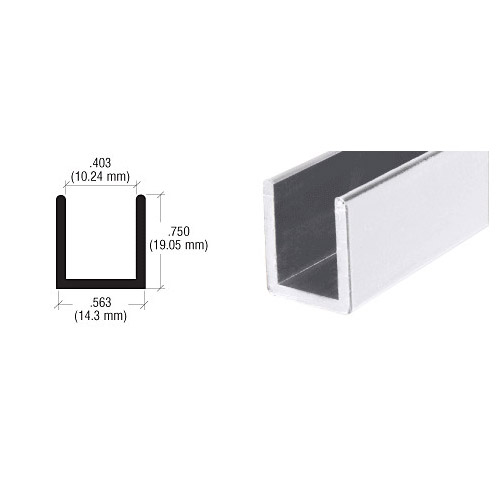 U channel for 10mm glass