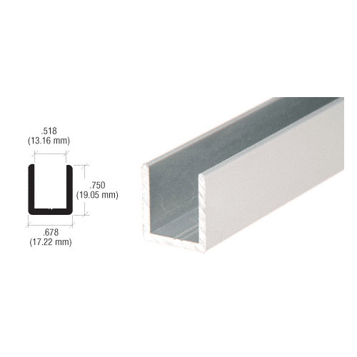 U channel for 12mm glass