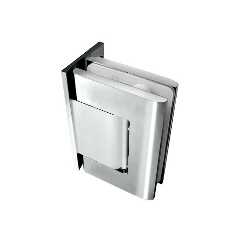 Brite Chrome Vernon Offset Back Plate Wall-to-Glass Hinge - Hold Open