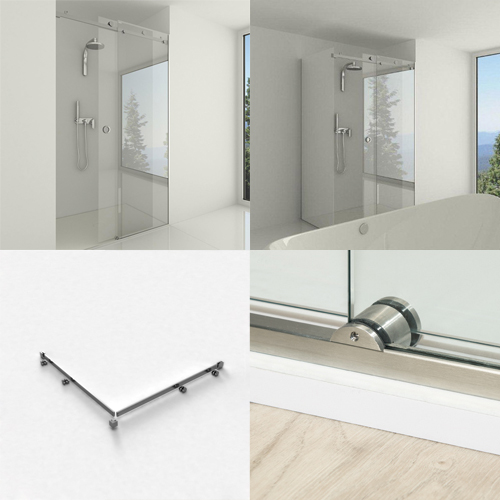 sliding shower door kit