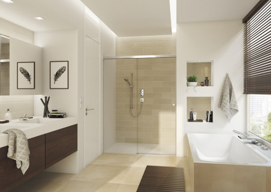 sliding shower door system