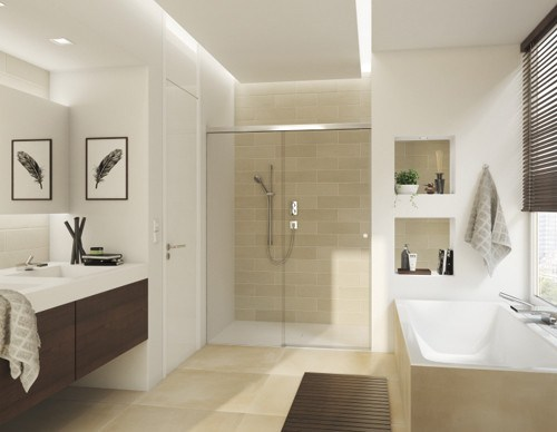 sliding shower door system