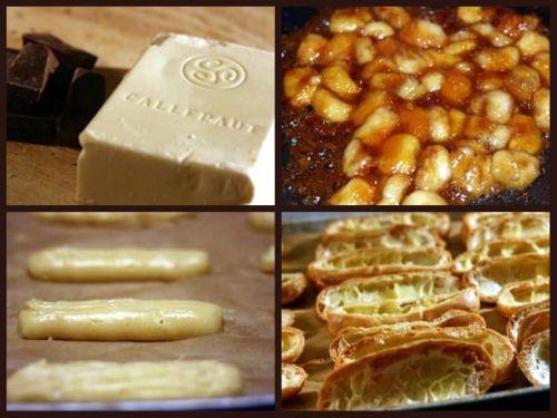 Salted Butter Caramel Rum Banana White Chocolate Cream Eclairs