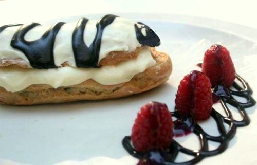 Raspberry White Chocolate Eclairs