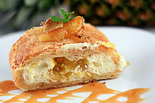 Homemade Pineapple Cheese Strudel