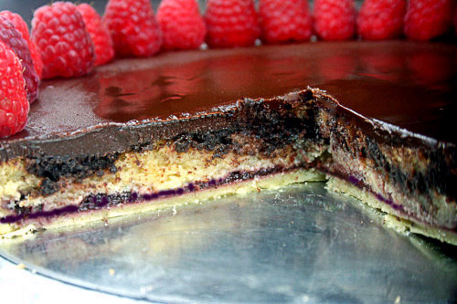 Chocolate and Vanilla Marbled Bakewell Tart