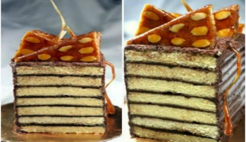 Chocolate Fudge Dobos Torte (sort of Dobos Torte)